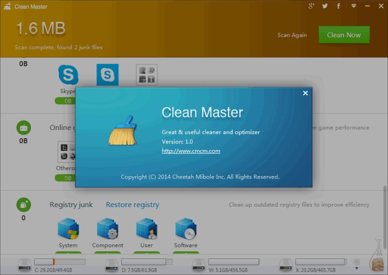 Clean master скачать для компьютера на windows xp, 7, 8, 10.